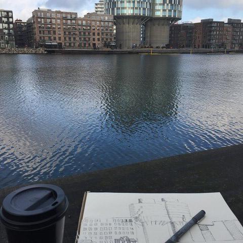 Tegning i Nordhavn